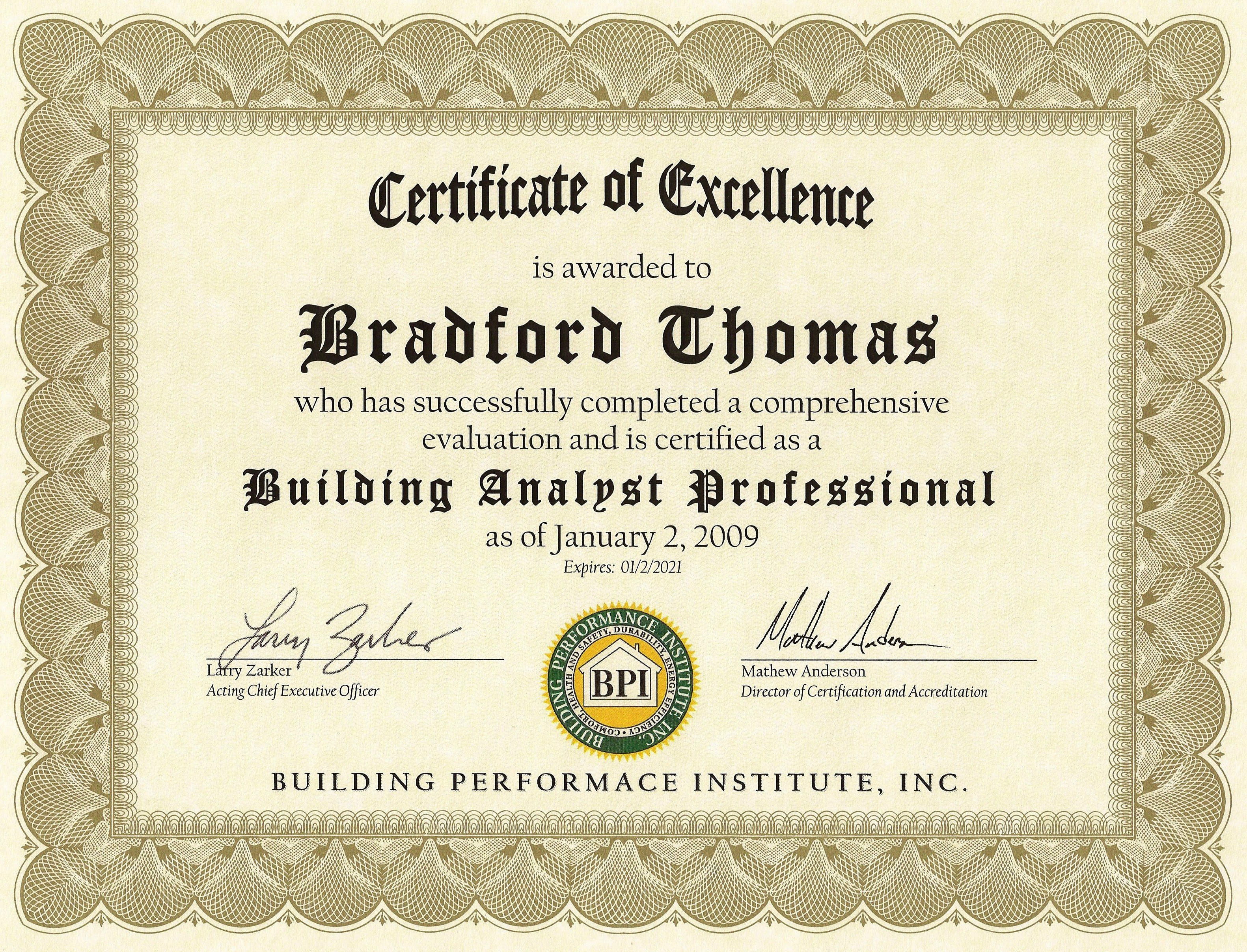 Thomas building solutions llc for Certified professional building designer