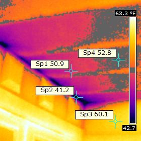 Leakage of cold air from above porch to above ceiling.